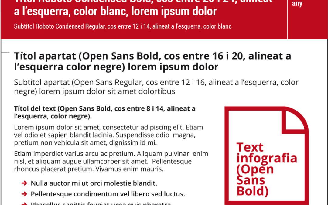 Pautes gràfiques per a l'elaboració d'infografies de la Generalitat