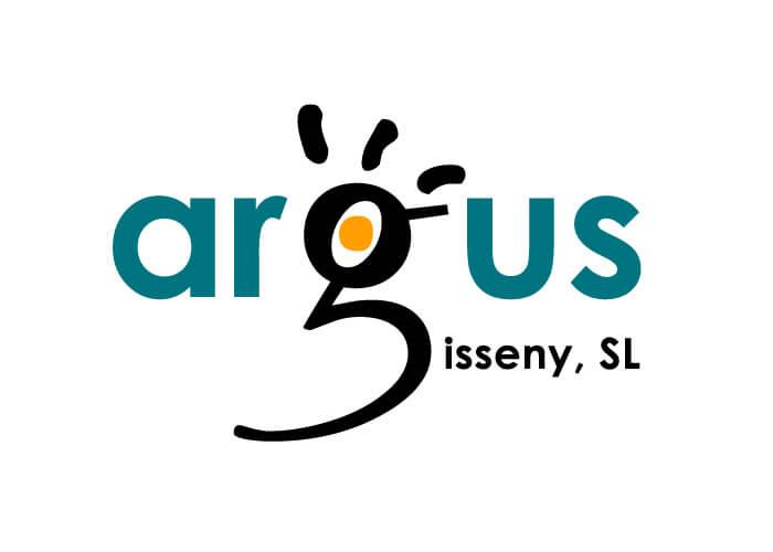 Logotip Argus Disseny, SL.