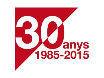 Diseño de la marca de los 30 años del Institut de Finances de Catalunya