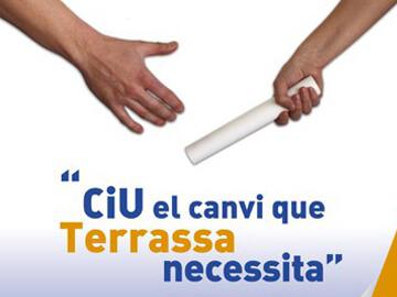 Soportes publicitarios para CIU en las elecciones municipales de 2011