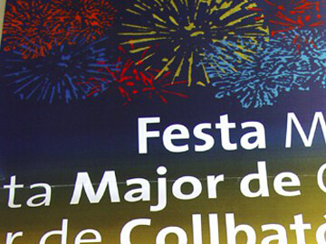 Ganamos el concurso del cartel de la Fiesta Mayor de Collbató 2007
