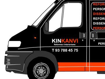 Diseño y rotulación de la tienda y del vehículo de Kinkanvi