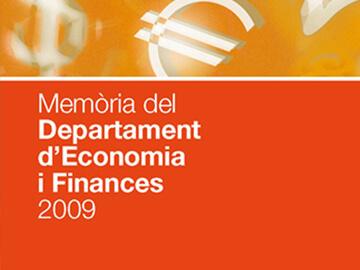 Maquetació de diverses memòries anuals del Departament d'Economia i Coneixement