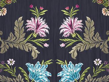 Colección de tres pañuelos de flores para el Colegio del Arte Mayor de la Seda de Valencia
