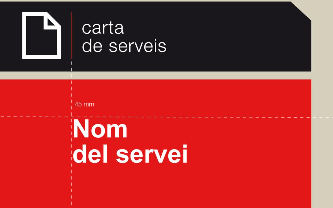 Noves pautes gràfiques de l'edició digital de les cartes de serveis