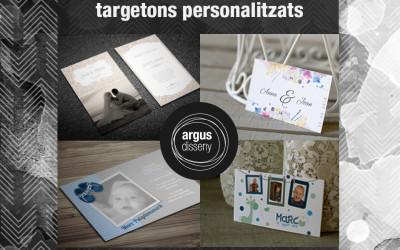Sorteo de targetones personalitzados