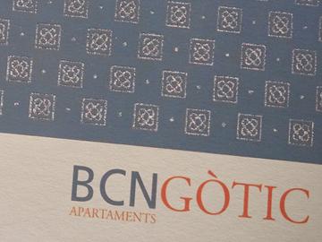 Postal, carta i adhesiu de Nadal per BCNGòtic