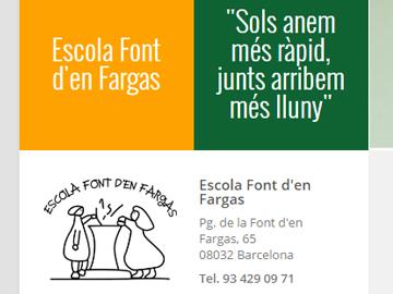Página web Escola Font d'en Fargas