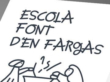 Tríptico y cartel Escola Font d'en Fargas
