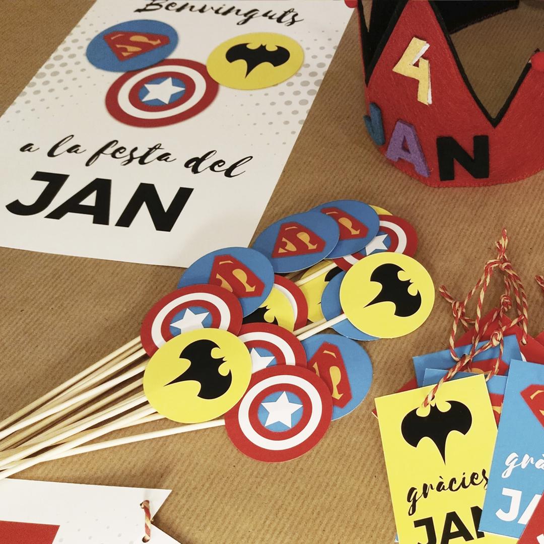 cumpleaños superheroes