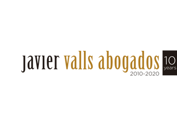 Logotipo Javier Valls Abogados 10º aniversario