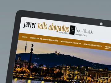 Redisseny del web de Javier Valls Abogados